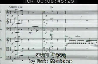 "The score ""Sextet"" composed by Ennio Morricone in 1953 (15 years old)"