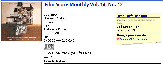 Film Score Monthly Vol. 14, No. 12