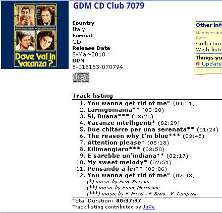 GDM CD Club 7079