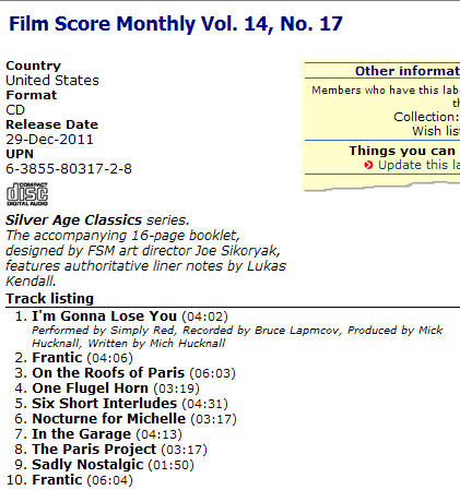 Film Score Monthly Vol. 14, No. 17