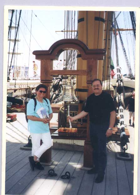 Rainer and his wife in boat tourism in 1997