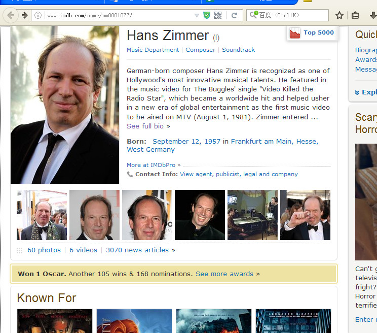 About Hans Zimmer
