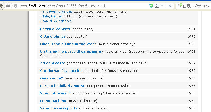Ennio morricone is conductor and musicc supervisor