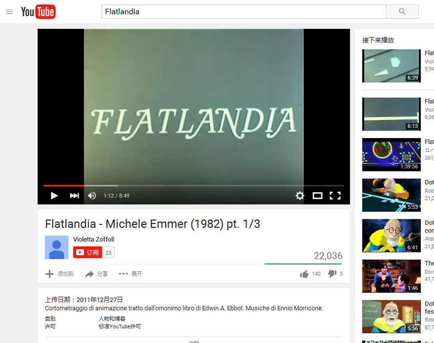 Flatland in YouTube