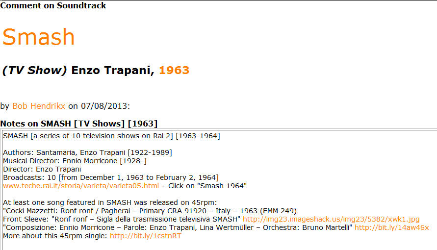 tfm-1963 basic view of films and music composed by Ennio Morricone