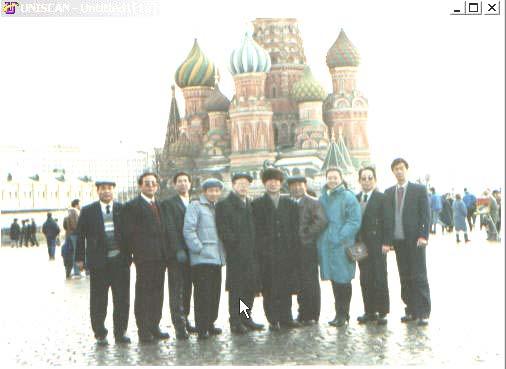 lajiao 1991年在莫斯科留影(最右侧为笔者)
