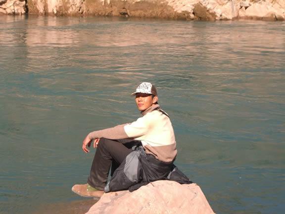 Beside Lancang river