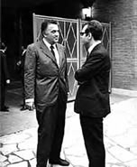Alberto Bevilacqua and Federico Fellini