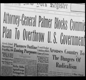 """The title: """"Attorney General Palmer Blocks Commie Plan To Overthrow U.S. Government"""""""