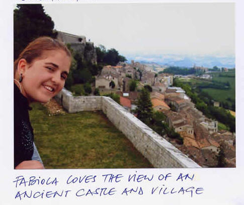 Fabiola in Abruzzo of Italy in July 2007 for trip