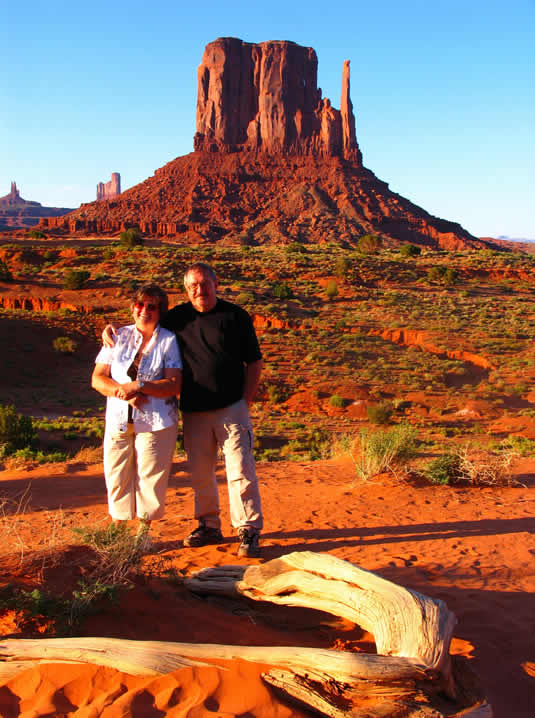 Mr.Chilian and his wife Maria in Grand canyon of America in June 2008