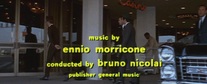 It is shown in the movie composed by Ennio Morricone