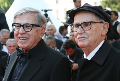 Paolo Taviani (Left) and Vittorio Taviani) (Right)
