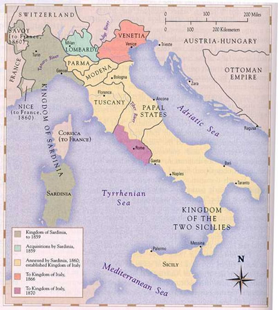 Italy in 1815-1870 (here)