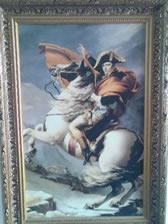 拿破仑征战意大利,跨越阿尔卑斯山圣伯纳隘道的肖像