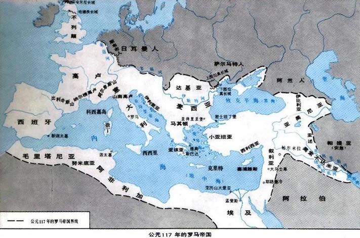 The Roma empire in 117