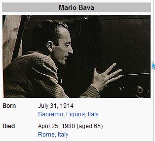 the derictor Mario Bava