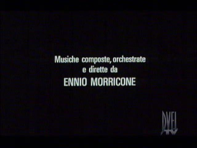 "It is shown the movie ""La Scorta/The Bodyguards"" composed by Ennio Morricone (00:03:17)"