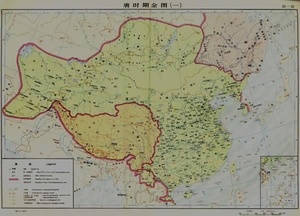 唐代地图 A map of Tang Dynasty