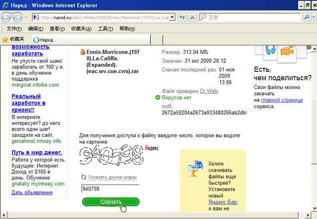 向下拉动页面,出现一个验证码框.输入验证码后,再点击下面的绿色图标.
