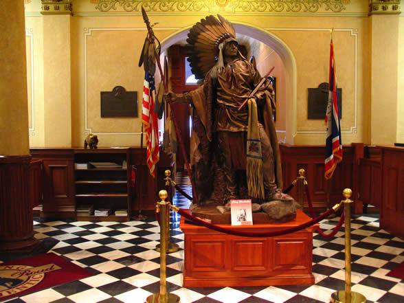 印地安人的首领Washakie (1798-1900)