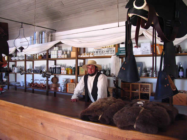 General Store and bar in Fort Laramie, Wyoming.