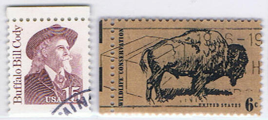 The stamps mailed by Mr.Chilian-02 Buffalo Bill / Bison