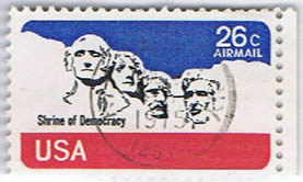 The stamps  Mount Rushmore
