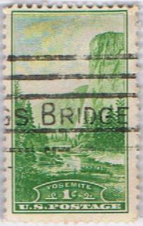 stamp Yellowstone / Zion / Yosemite / Devils Tower