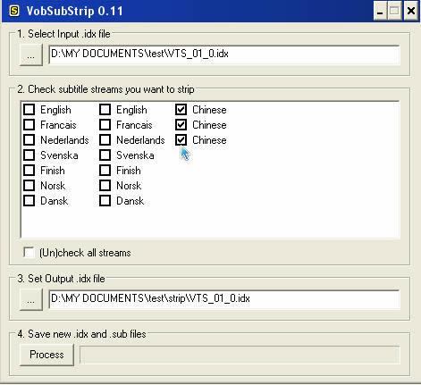 Introduce a green free English software VobSubStrip