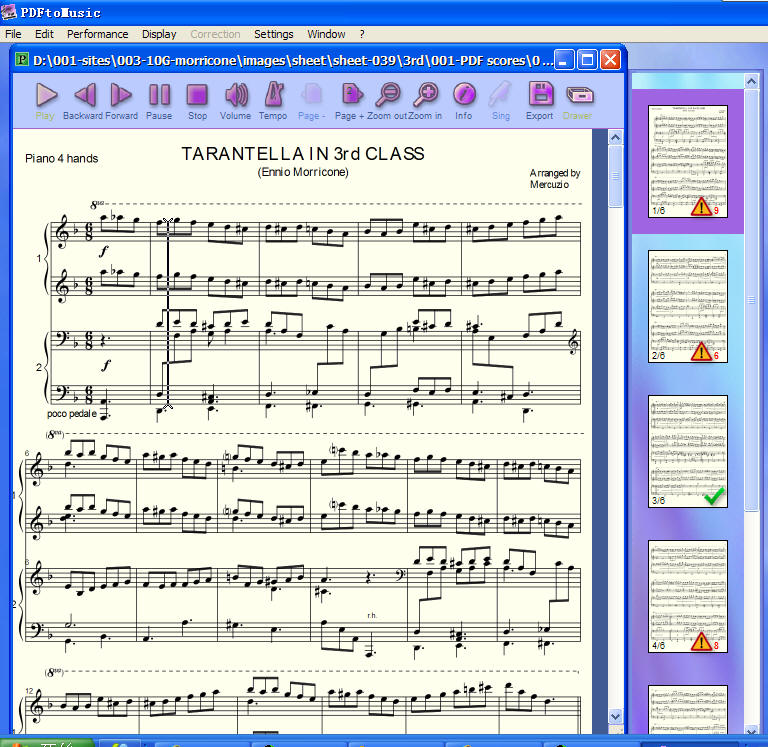 PDF琴谱直接转为MIDI音乐