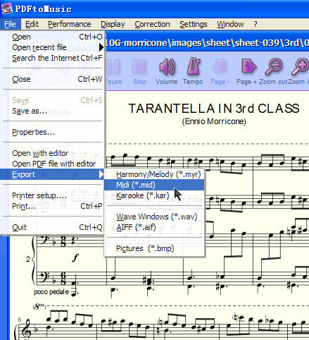 PDF琴谱直接转为音乐