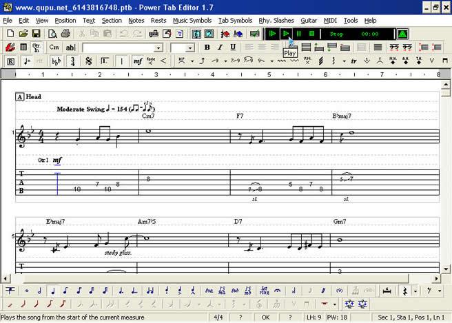 Power Tab Editor 软件 (PIB格式)