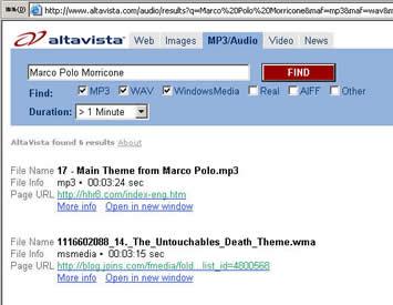 "意大利访客搜索""Marco Polo Morricone""--第一位"