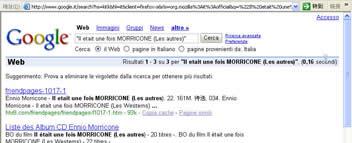 """美国(意大利)访客搜索""""Il etait une fois MORRICONE (Les autres)""""--仅有三个结果中的第一位"""