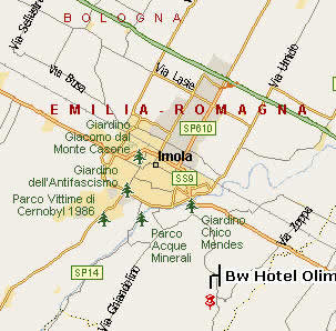 The BW Olimpia Hotel,it situated East suburbs (Black bold words