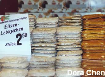 慕尼黑圣诞集市上的姜饼商铺