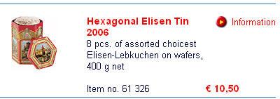 德国SCHMIDT网上商店同样商品的价格为10.5欧元(不计邮费,见这里)