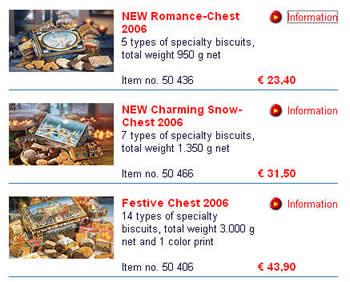 德国Schmidt商店一些典型的Lebkuchen价格