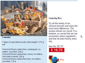 the Schmidt shop  Lebkuchen (Gingerbread)