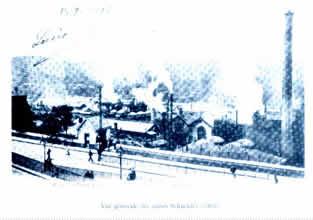 法文:Vue generale des usines Schneider (1903)-译文:施奈德(注:克斯鲁瓦创始人)工厂景色(1903)
