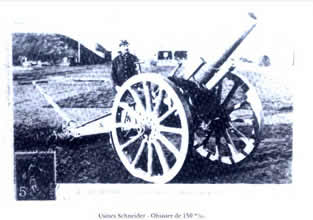 法文: Usines Schneuder-Obudier de 150m/m-译文:施奈德工厂生产的150毫米榴弹炮