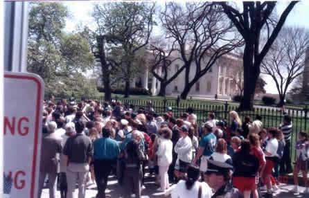 Farewell white house, farewell Mr.Clinton