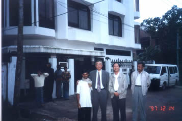 The rented building just is a project headquarters. We taken a group photo for memory with local folks