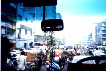 In Chittagong street, its traffic is extremely chaos