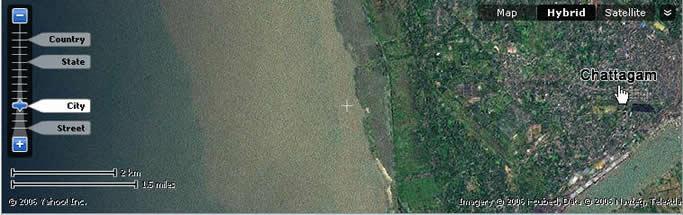 吉大港西临孟加拉湾,恒河和贾姆纳河携带的大量泥土使得海岸附近海水十分混浊