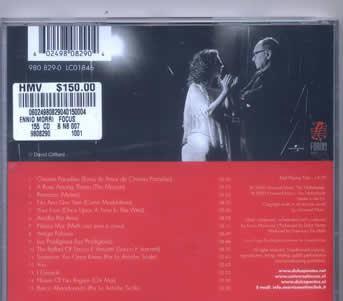 """这次香港自由行所买的CD葡萄牙歌手邦蒂斯的CD """"ENNIO MORRICONE & DULCE PONTES--focus"""""""