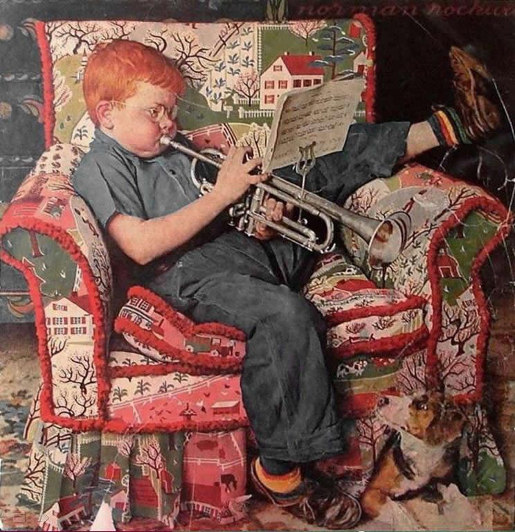欣赏插图画家洛克维尔的画作