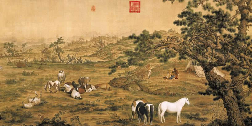 中国十大传世名画之一《百骏图》
