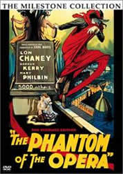 The phantom of the opera The earlest movie with same name is in 1925. Starred by Lon Chaney